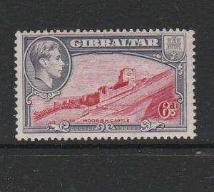 Gibraltar 1938/51 6d P13 UM/MNH