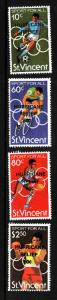 St Vincent -Sc#B5-8-unused NH set-Sports-Hurricane Relief overprint-