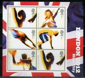 GREAT BRITAIN SCOTT# 2301 LONDON OLYMPICS  SOUVENIR SHEET MINT NEVER HINGED
