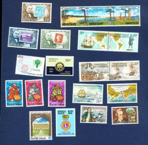 NORFOLK ISLAND - 235-255 - VF MNH  - sets & S/S  from 1978-1980 - TWO SCANS