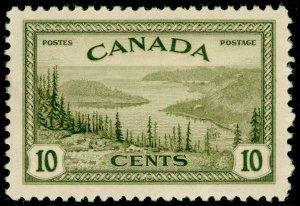 CANADA SG402, 10c olive-green, LH MINT.