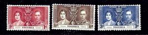 Nigeria 50-52 MNH 1937 KGVI Coronation  #2
