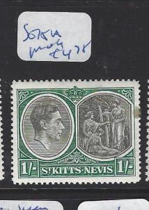 ST KITTS NEVIS  (PP2806B)  KGVI  1/-  SG 75A   MOG