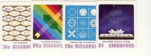 Singapore, 288-91, Science Center, Singles, MNH