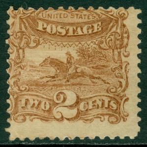 EDW1949SELL : USA 1869 Sc #113 Mint Original Gum. Nice stamp. PSAG Cert Cat $550