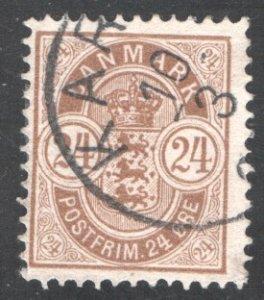 Denmark 49, Used, FVF,  CV $6.00  ...   1671034/46