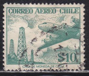 Chile C176 Oil Derricks and Plane 1956