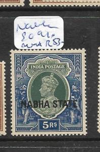 INDIA NABHA (P0512B) KGVI 5R  SG 91    MNH