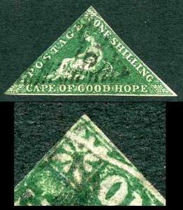 COGH SG8b 1/- Deep Dark Green PB Printing Pre Printing Paper Fold RARE