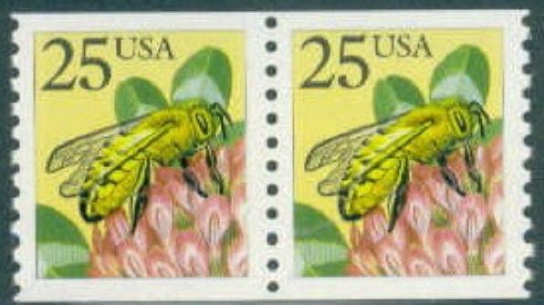 2281 Honey Bee F-VF MNH coil pair