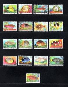 Cocos Islands, Sc 34-50,  VF, Used, Complete Set, CV $15.70 ..... 1420006