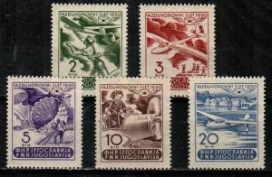 Yugoslavia Scott 295-9 Mint NH (Catalog Value $39.50)