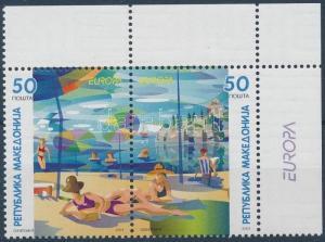 Makedonien stamp Europa CEPT corner pair 2004 MNH Mi 317-318 WS188550