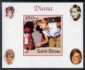 Guinea - Bissau 2001 Princess Diana #1 imperf deluxe shee...