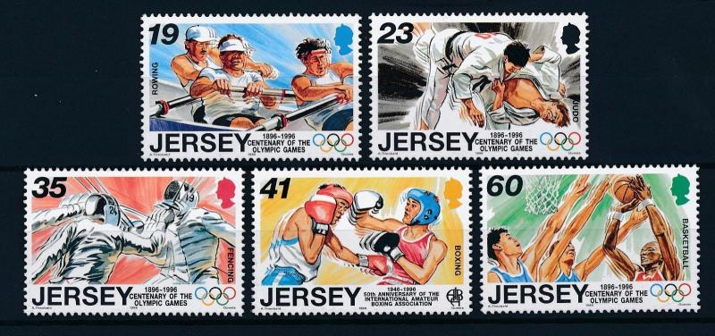 [42951] Jersey 1996 Olympic games Rowing Judo Fencing Boxing Basketball MNH
