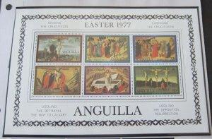 Anguilla 1977 Sc 296a Christmas Religion set MNH
