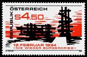 Austria 1266 MNH Memorial to 1934 Uprising