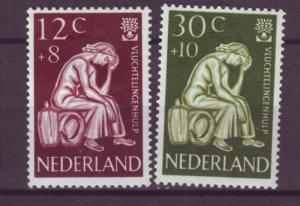 J15713 JLstamps 1959 netherlands set mh #b341-2 refugee woman