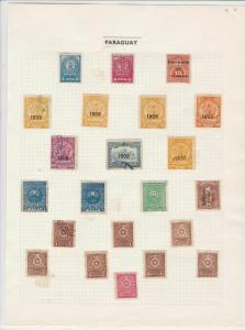 paraguay stamps page ref 16497