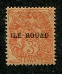 Ile Rouad SC# 6 Liberty, Equality, Fraterrnity 3c Used