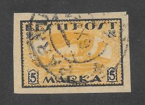 Estonia Scott #35 Used 5M Viking Ship stamp 2015 CV $4.75