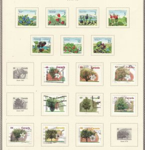 CANADA   ^^^^^1991-95   used collection( Wild berries,TREES)  @ xdca112xxbca112