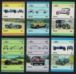 Nevis Automobiles 6th series 12v 1986 MNH SG#411-422
