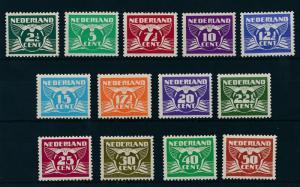 [17093] Netherlands 1941 Definitives Gull Birds13 values MNH NVPH 379-391