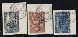 Germany Scott # 1N15 - 17 Hi values VF used on piece scv $ 116 ! see pic !