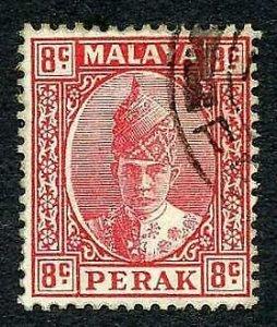 Perak SG36 8c Scarlet fine used Cat 90 pounds