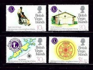 Virgin Is 426-29 MNH 1982 Lions International