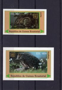 Equatorial Guinea 1978  WWF/RODENTS/SQUIRREL  2 SS Imperforated MNH VF