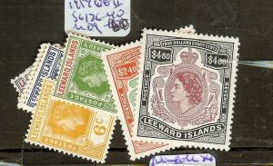 LEEWARD ISLANDS (P2012B) QEII  SG126-140   MOG