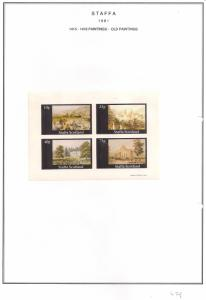 SCOTLAND - STAFFA - 1981 - Old Paintings #2  - Imperf 4v Sheet - MLH