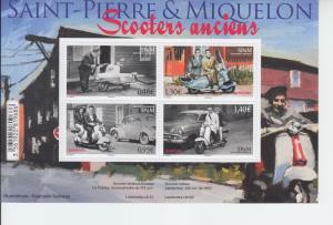 2018 St Pierre & Miquelon Scooters MS4 (Scott 1064) MNH