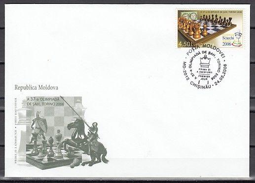 * Moldova, Scott cat. 525. 37th Chess Olympiad issue on a First day cover.