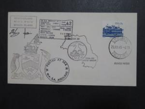 South Africa 1985 Antarctica Paquebot Cover / 7 Cachets / Signed - Z9607