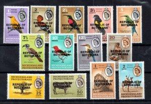 Botswana 1966 Birds & Animals mint MH set #206-219 WS17258