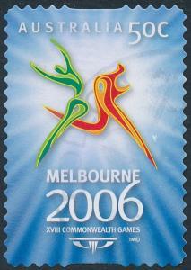 Australia 2006 50c Commonwealth Games Melbourne Self Adhesive SG2576 Used