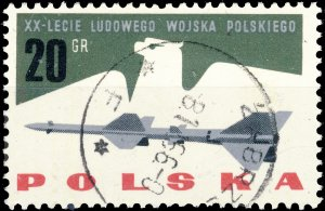 POLAND / POLEN - 1963 Mi.1425 20gr 20yrs People's Army - VF Used (b)