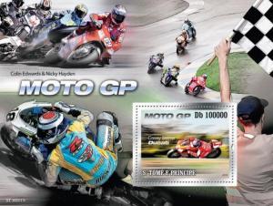 SAO TOME E PRINCIPE 2010 SHEET RACING MOTORCYCLES SPORTS st10211b