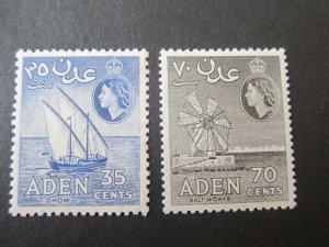 Aden 1956 Sc 52a,54a MH
