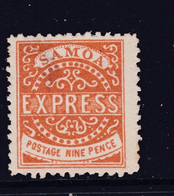 Samoa a 9d MNG from the 1877 series see description