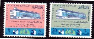 KUWAIT 360-361 MH SCV $3.25 BIN $1.30 HEALTH DAY
