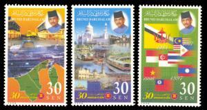 Brunei 1998 Scott #526-528 Mint Never Hinged
