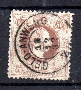 Austria 1880 50kr Franz Joseph Superb CDS used #66 Perf 13 WS20740