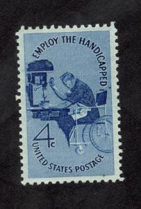 1155 Employ The Handicapped US Single Mint/nh FREE SHIPPING