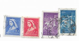 Hungary #458-461 Used CAT VALUE $4.00
