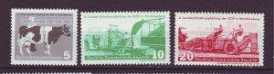 J24154 JLstamps 1958 germany DDR set mnh #385-7 farming