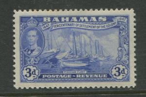 Bahamas - Scott 137 - KGVI Definitive Issue-1948- MLH -Single 3d Stamp